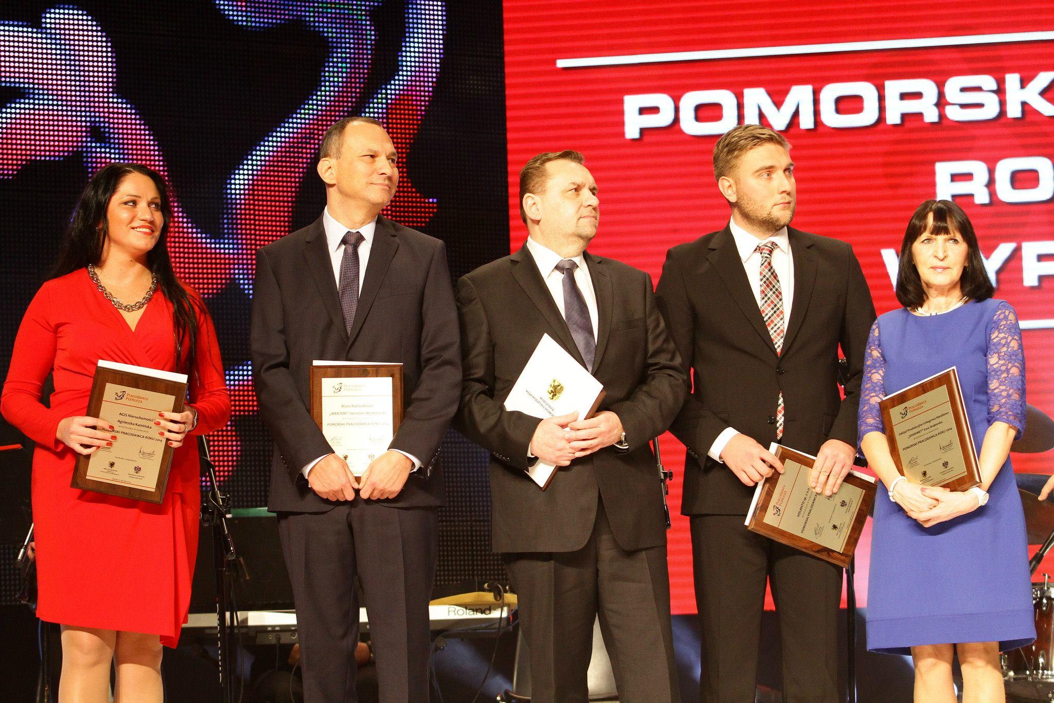 Wręczenie nagrody Pracodawców Pomorza 2014