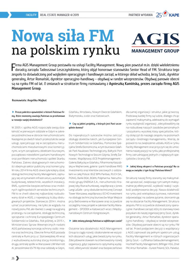 Nowa siła Facility Management na polskim rynku